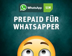 Die Prepaid-Karte für WhatsApper