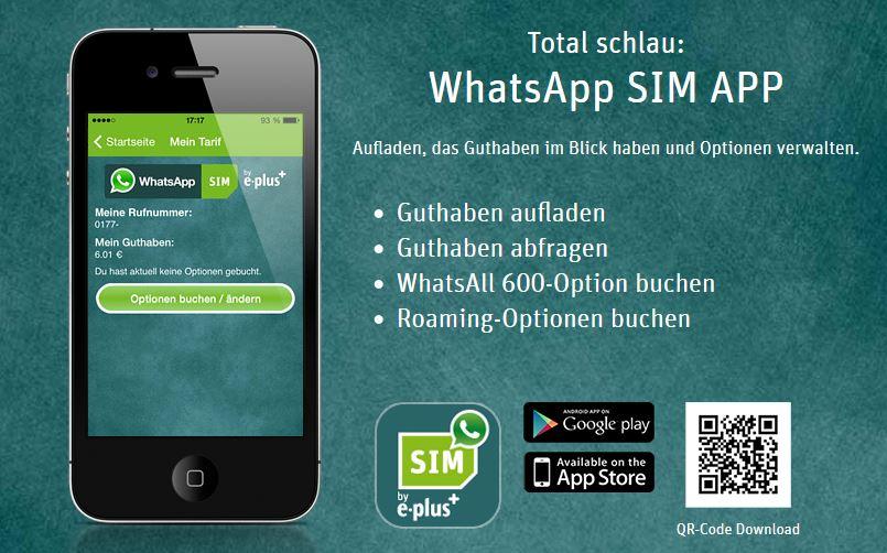 WhatsApp SIM aufladen