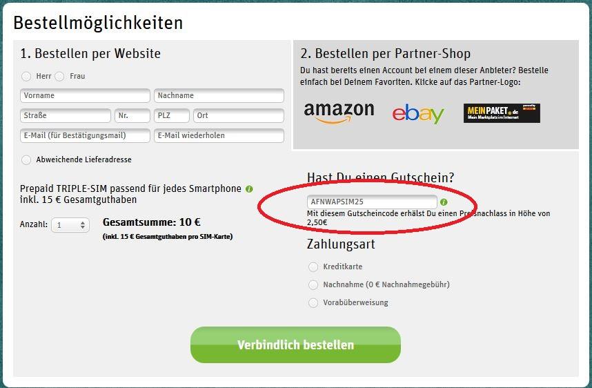 Whatsapp Gutscheincode