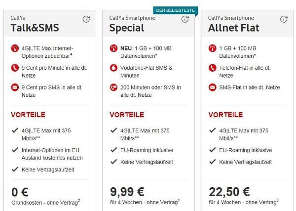 Vodafone Prepaid Vergleich: Kostenlose SIM-Karten im D2-Netz