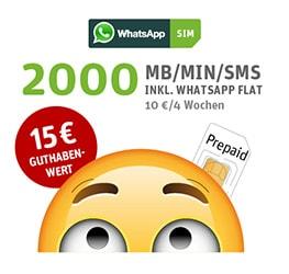 WhatsAppSIM - flexibler Prepaid Tarif