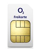 o2 Freikarte - kostenlose SIM Karte ohne Vertrag