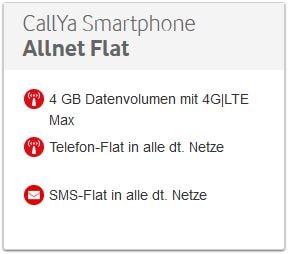 CallYa Freikarten Smartphone Allnet Flat Tarif